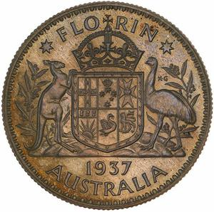 Australia / Florin 1937 (pattern) - reverse photo