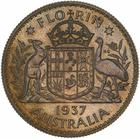 Florin 1937 (pattern): Photo Pattern Coin - Florin (2 Shillings), Australia, 1937