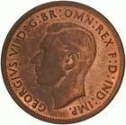 Australia / Halfpenny 1943 - obverse photo