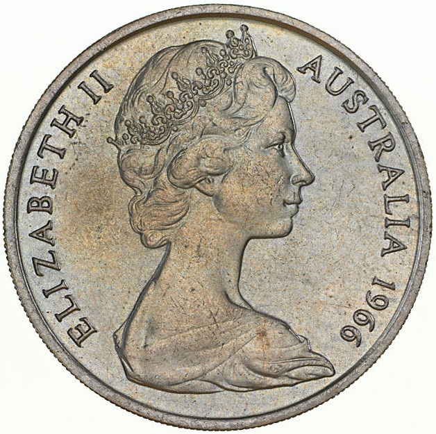 Twenty Cents: Photo Specimen Coin - 20 Cents, Australia, 1966
