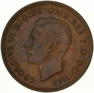 Australia / Halfpenny 1944 - obverse photo