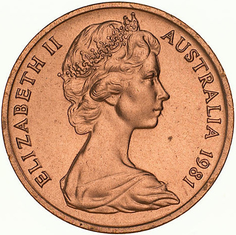One Cent 1981: Photo Coin - 1 Cent, Australia, 1981
