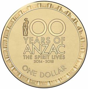 Australia / One Dollar 2018 ANZAC - reverse photo