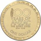 Australia / One Dollar 2014 ANZAC - reverse photo