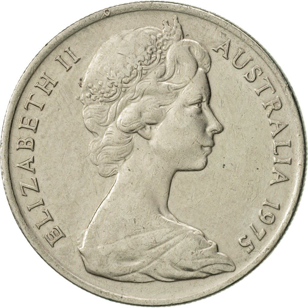 Ten Cents 1975: Photo Australia, Elizabeth II, 10 Cents, 1975