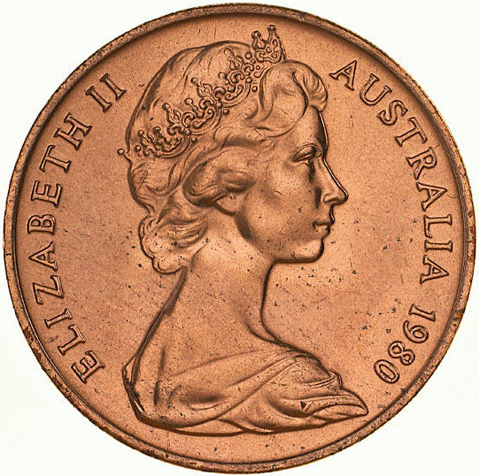 Two Cents 1980: Photo Coin - 2 Cents, Australia, 1980