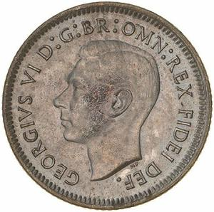 Australia / Sixpence 1951 - obverse photo