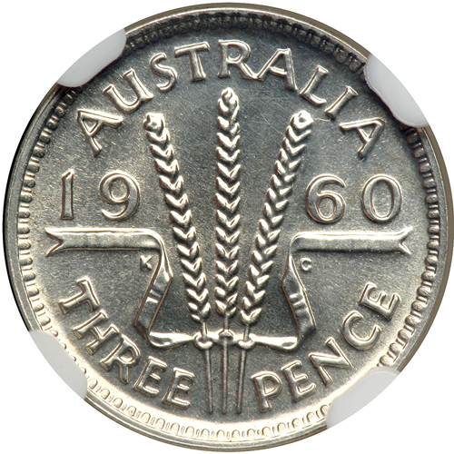 Threepence 1960: Photo Australia 1960 3 pence