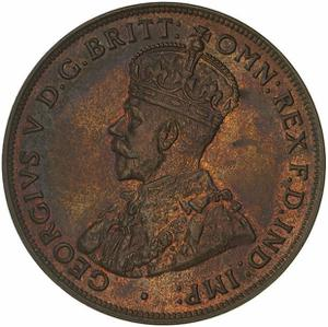 Australia / Penny 1930 - obverse photo
