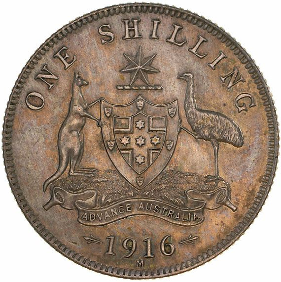 Shilling 1916: Photo Proof Coin - 1 Shilling, Specimen Strike, Australia, 1916