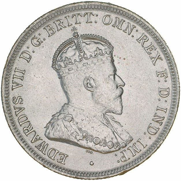Florin - 1908 Coat of Arms: Photo Specimen Coin - Florin (2 Shillings), Australia, 1910