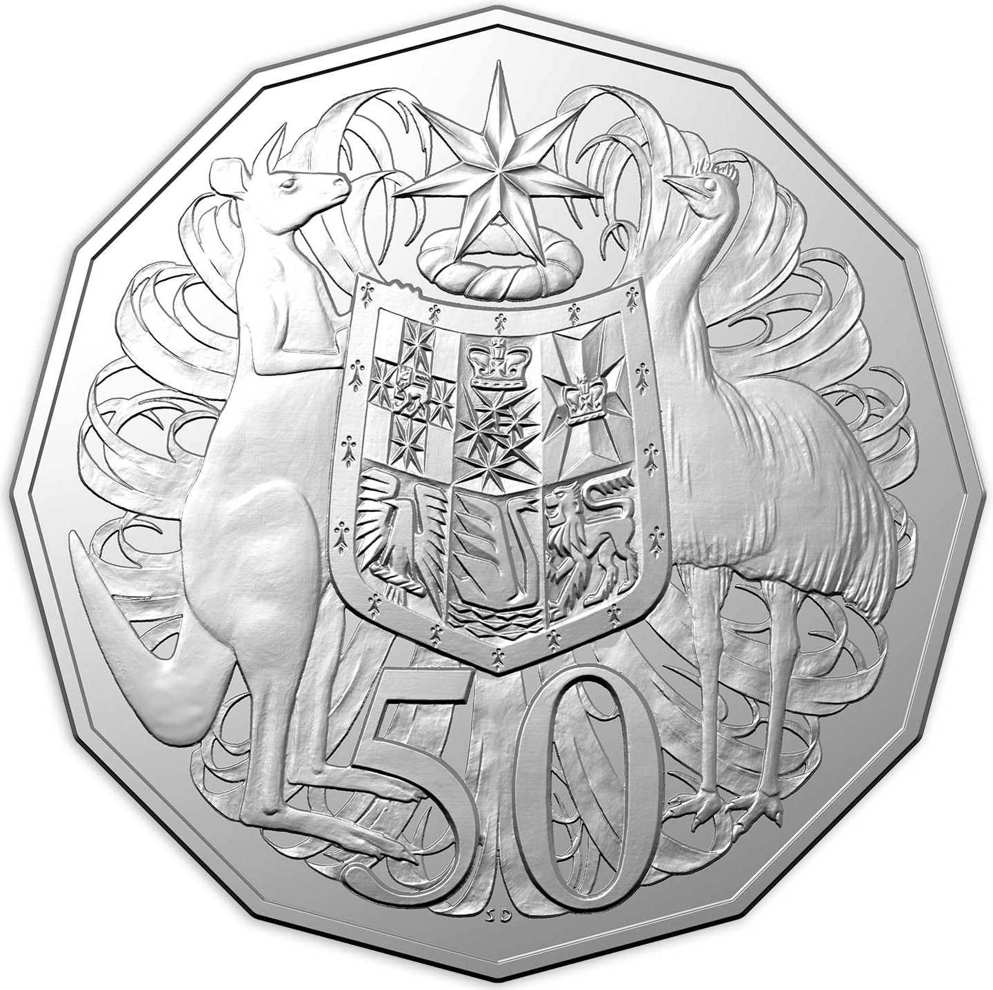 Low mintage ★ 2019 Proof 50 Cents 99.99/% silver