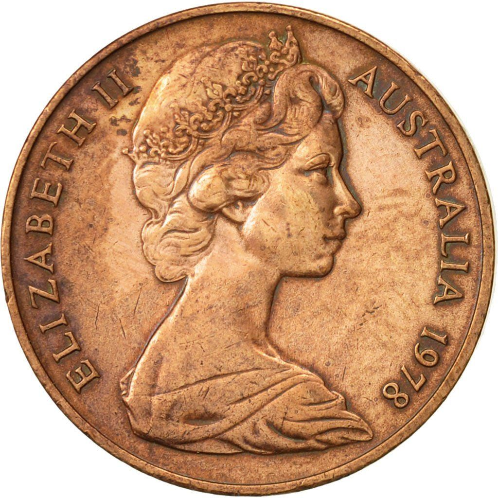 Two Cents 1978: Photo Australia, Elizabeth II, 2 Cents, 1978