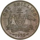 Shilling 1935: Photo Proof Coin - 1 Shilling, Specimen Strike, Australia, 1935