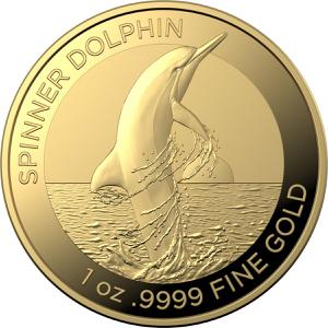Australia / Gold Ounce 2020 Spinner Dolphin - reverse photo