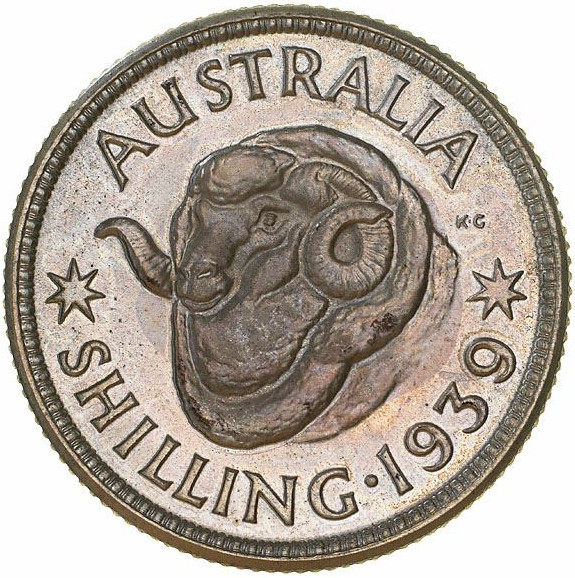 Shilling 1939: Photo Proof Coin - 1 Shilling, Australia, 1939