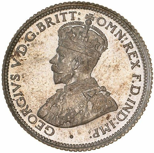 Sixpence 1922: Photo Specimen Coin - Sixpence, Australia, 1922