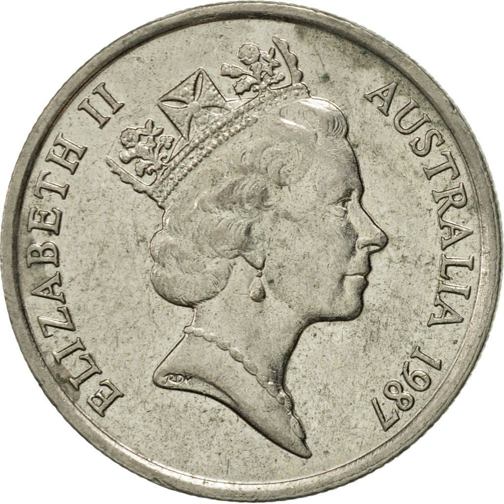 Five Cents 1987: Photo Australia, Elizabeth II, 5 Cents, 1987