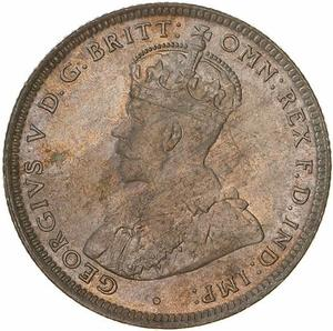 Australia / Shilling 1916 - obverse photo