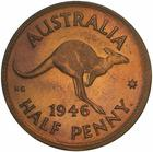 Halfpenny 1946: Photo Proof Coin - Halfpenny, Australia, 1946