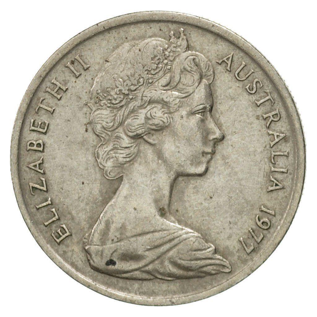 Five Cents 1977: Photo Coin, Australia, Elizabeth II, 5 Cents, 1977