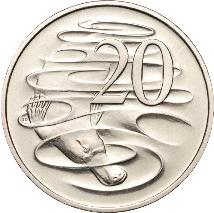 Twenty Cents 1997: Photo 1997 20c CuNi Unc for the Uncirculated Year Set