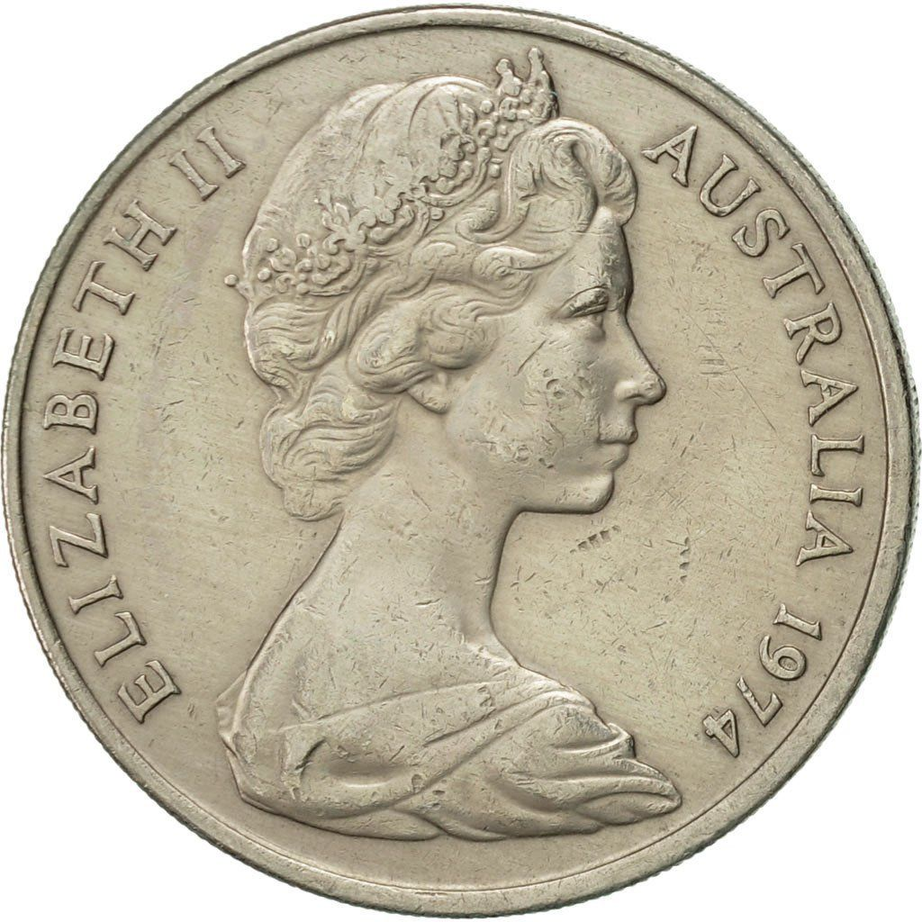 Twenty Cents 1974: Photo Australia, Elizabeth II, 20 Cents, 1974