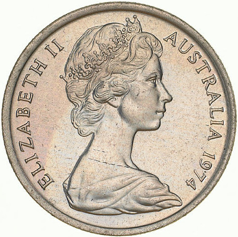 Five Cents 1974: Photo Coin - 5 Cents, Australia, 1974