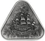 Australia / Silver Ounce 2020 Vergulde Draeck Shipwreck / Antique Finish - reverse photo