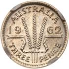 Threepence 1962: Photo Australia 1962 3 pence