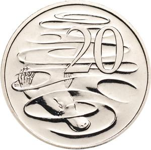 Australia / Twenty Cents 2011 - reverse photo