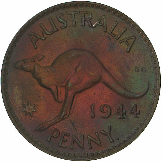 Penny 1944: Photo Proof Coin - 1 Penny, Australia, 1944