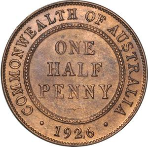 Australia / Halfpenny 1926 - reverse photo