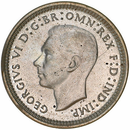 Threepence 1939: Photo Proof Coin - Threepence, Australia, 1939