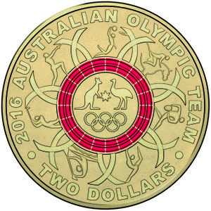 Australia / Two Dollars 2016 Olympics Red - reverse photo