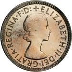 Australia / Sixpence 1955 - obverse photo