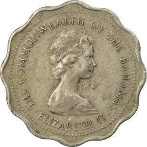 Bahamas / Ten Cents 1973 (Queen Elizabeth II) - obverse photo