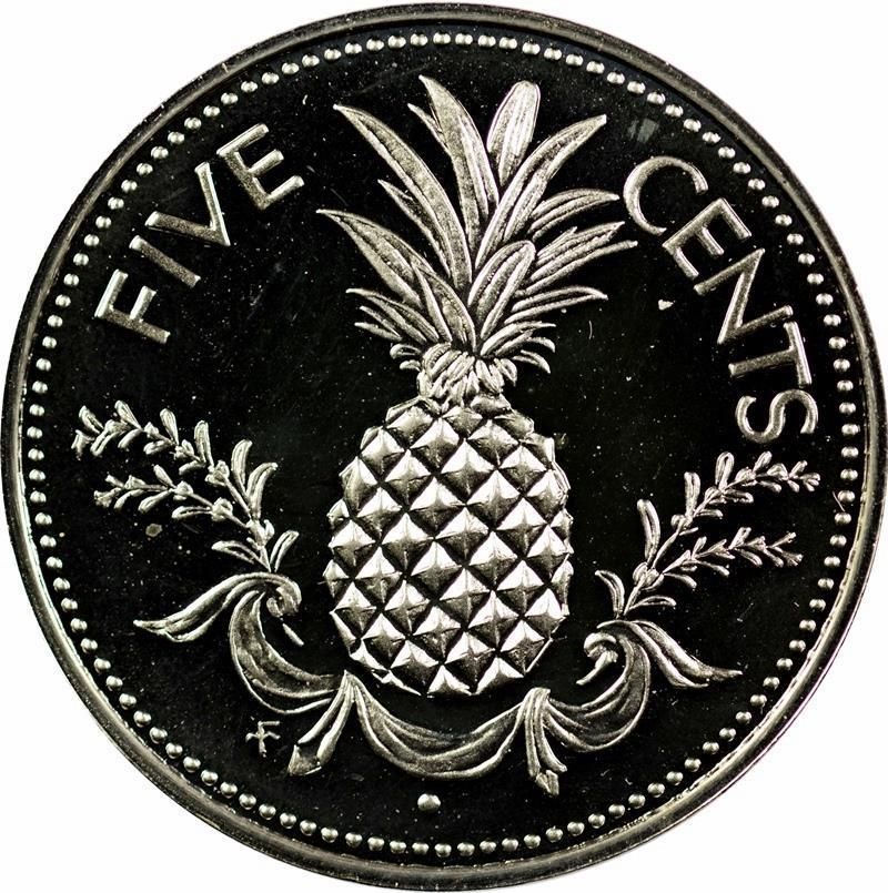 Five Cents: Photo Bahamas - 5 Cents - 1976