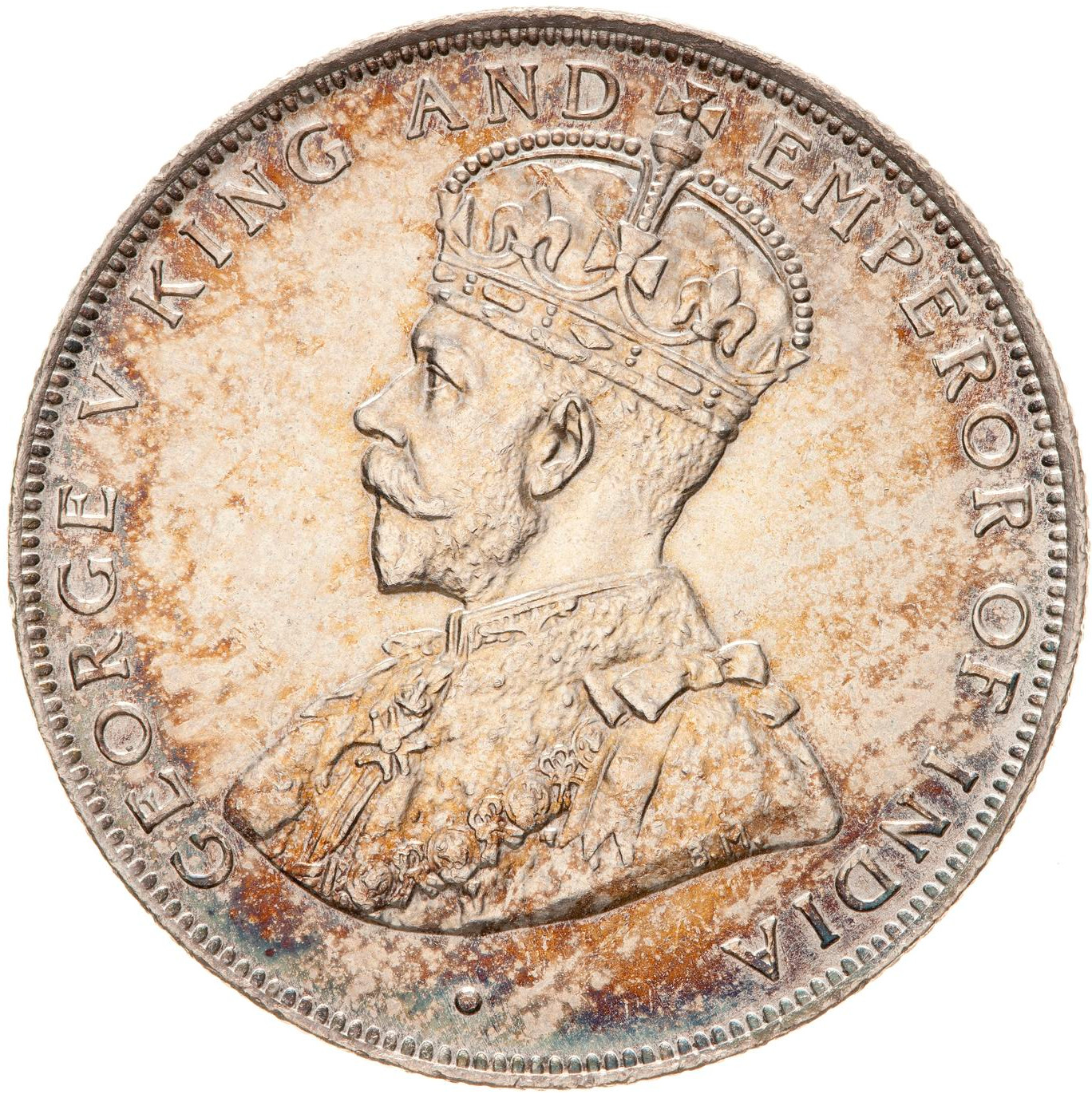 Fifty Cents (Silver): Photo Coin - 50 Cents, British Honduras (Belize), 1911