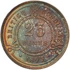 British Honduras / Twenty Five Cents 1895 - reverse photo