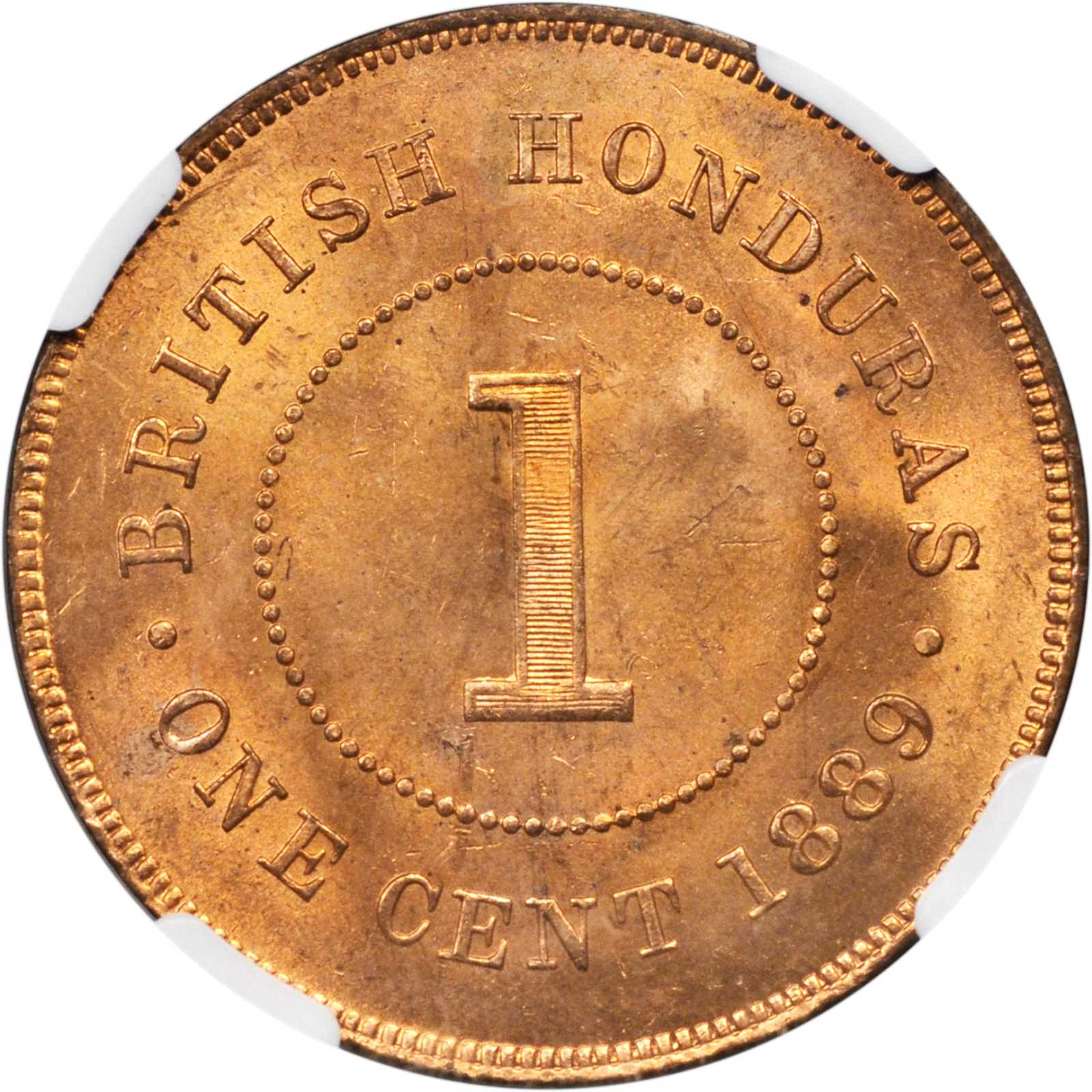 One Cent 1889: Photo British Honduras 1889 cent