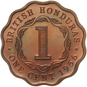 British Honduras / One Cent 1956 - reverse photo