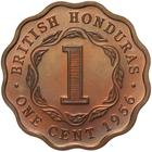 One Cent 1956: Photo Proof Coin - 1 Cent, British Honduras (Belize), 1956