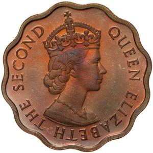 British Honduras / One Cent 1956 - obverse photo