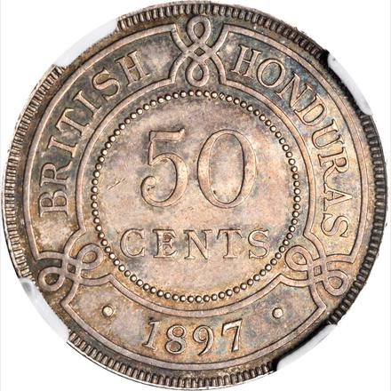 Fifty Cents 1897: Photo British Honduras 1897 50 cents