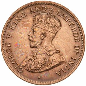 British Honduras / One Cent 1914 - obverse photo