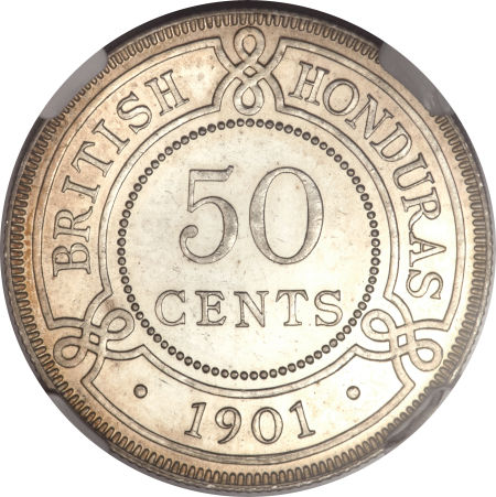 Fifty Cents 1901: Photo British Honduras 1901 50 cents