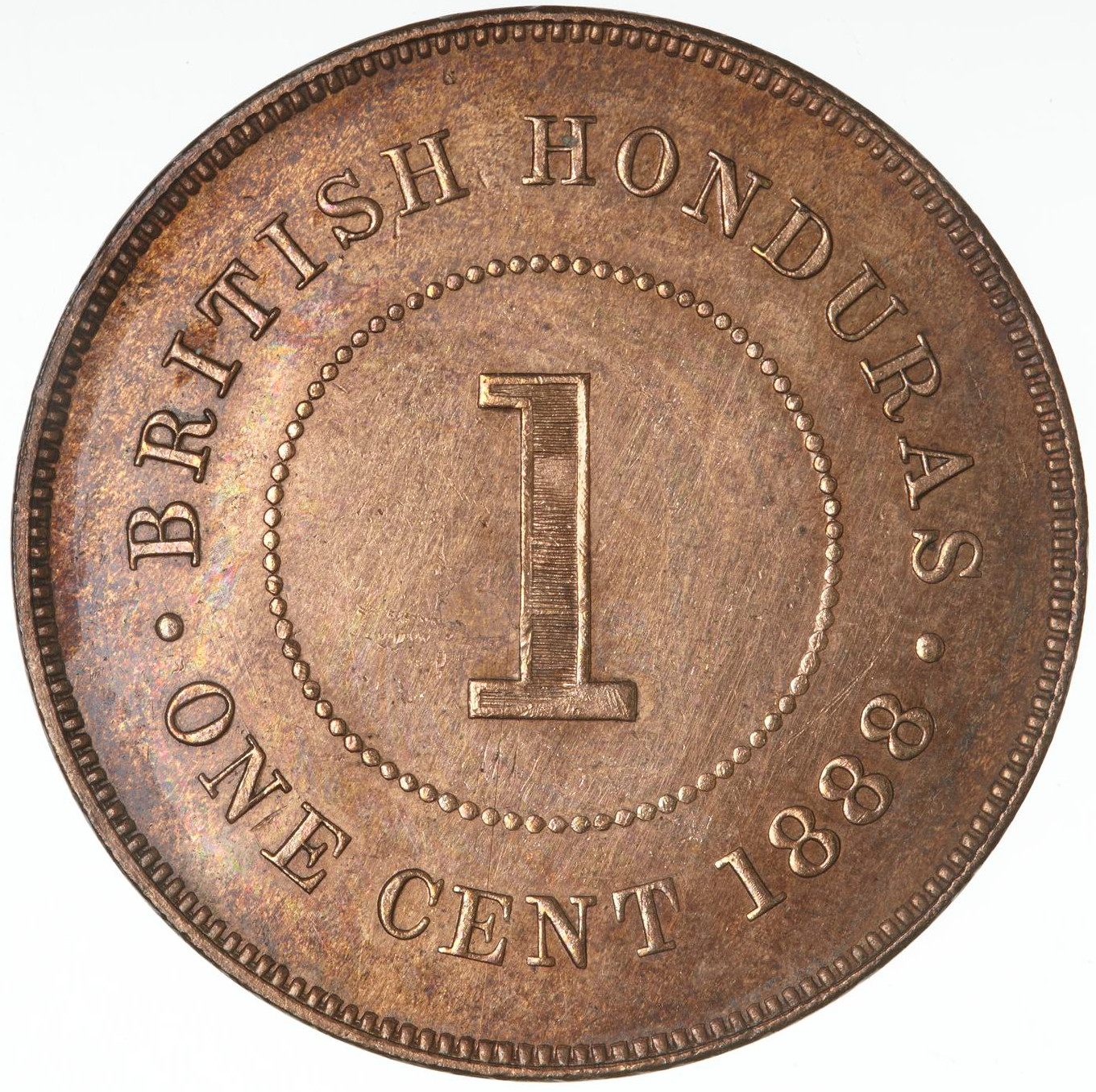 One Cent: Photo Coin - 1 Cent, British Honduras (Belize), 1888