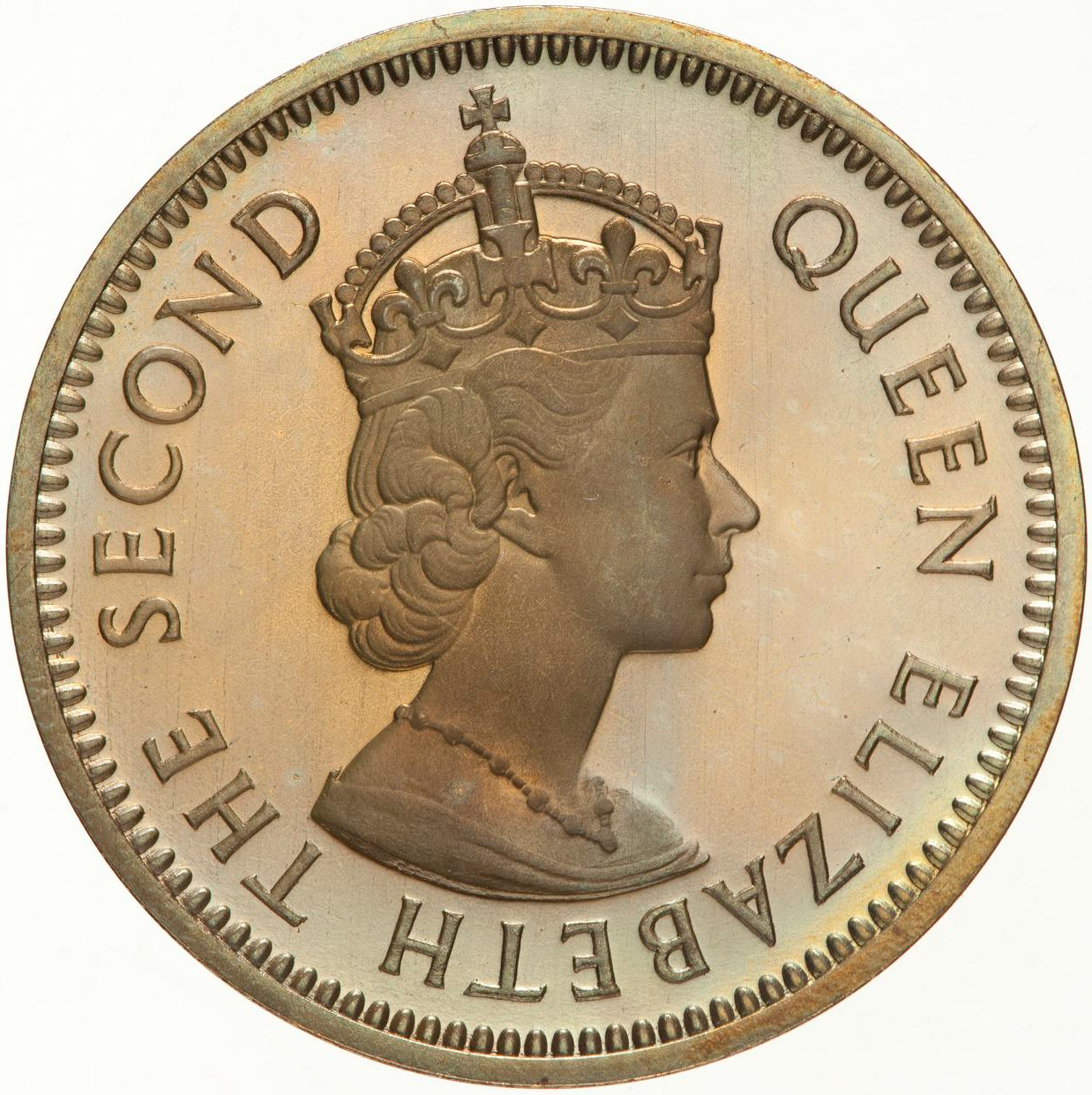 Five Cents: Photo Proof Coin - 5 Cents, British Honduras (Belize), 1956