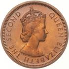 One Cent 1954: Photo Proof Coin - 1 Cent, British Honduras (Belize), 1954